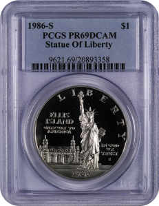 1986-S-Statue of Liberty Silver Dollar
