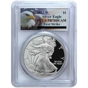 Pre-Order 2013-W Silver American Eagle PR70 DCAM FS PCGS Eagle Label